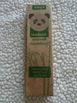 Eco-friendly Genkent Bamboo Toothbrush w/ Rainbow Bristles -