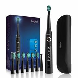 Fairywill Electric Toothbrush 8 Brush Heads Rechargeable A T