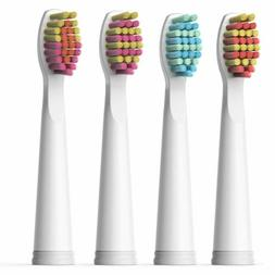 4X Soft Brush Heads White for Fairywill Electric Toothbrush