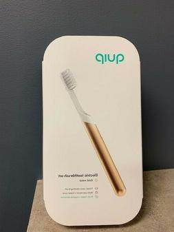 QUIP  Electric Toothbrush Sonic - Gold Metal BRAND NEW SEALE