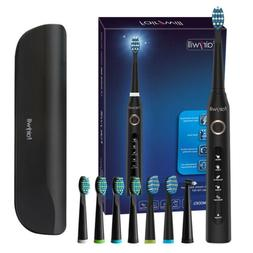 Fairywill Electric Toothbrush Sonic Rechargeable Black 5 Mod