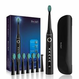 Fairywill Electric Toothbrush Travel Case 8 Brush Heads 5 Mo