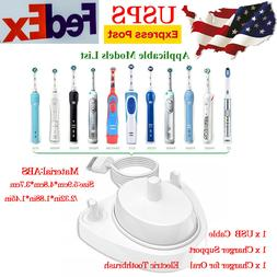 Electric Toothbrush USB Charger for Braun Oral B Power Induc