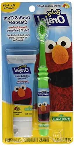 Orajel Baby Elmo Tooth and Gum Cleanser with Toothbrush, App