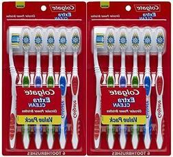Colgate Extra Clean Full Head, Medium Toothbrush, 12 Count S