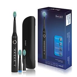 Fairywill 5 Modes Electric Toothbrush with Travel Case, Rech