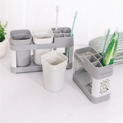 Family Toothbrush Holder Stand Set Shelf Bathroom Toothpaste