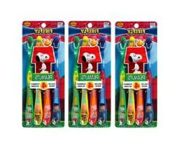 Firefly Peanuts Soft Toothbrush, 4 Count