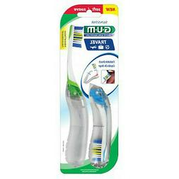 Butler G-U-M Travel Toothbrushes with Antibacterial Bristles