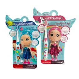 Brush Buddies Girls Kids Mermaid Toothbrush with Fashion Dol