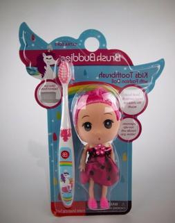 Brush Buddies Girls Kids Mermaids Toothbrush with Pink Fashi