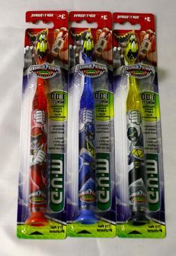 GUM BUTLER Power Rangers Dino toothbrush flashing light NIB
