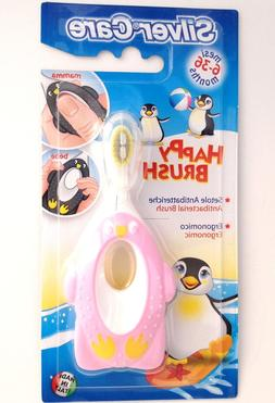 Happy Penguin Toddler Toothbrush For 6-36 Months - Pink