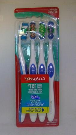 Colgate 360 Degree Adult Full Head Toothbrush, Medium, 4 Cou