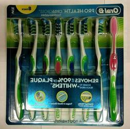 *NEW* Oral-B Pro-Health Criss Cross 8 Pack MEDIUM Toothbrush
