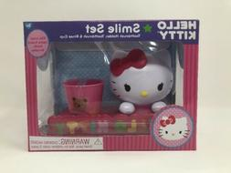 Hello Kitty 3 Piece Smile Set with Toothbrush, Holder, and R