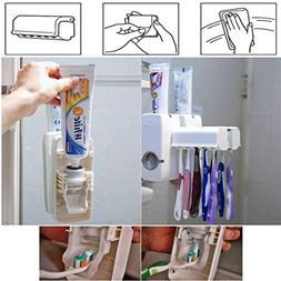 ANMOSHUA Fashion Home Automatic Toothpaste Dispenser Toothbr
