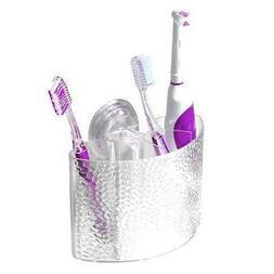 InterDesign Rain Power Lock Suction Toothbrush Center