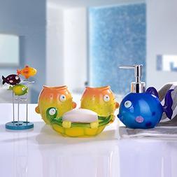YOURNELO Kid's Cartoon Cute Animals Tropical Fish 5 Piece Ba