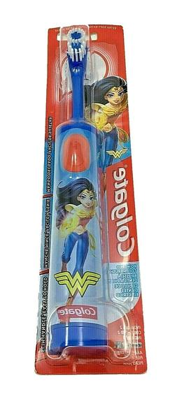 Colgate Kids Battery Powered Toothbrush - Wonder Woman  Blue