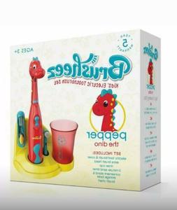 Brusheez Kids Electric Battery Powered Toothbrush Set - Pepp