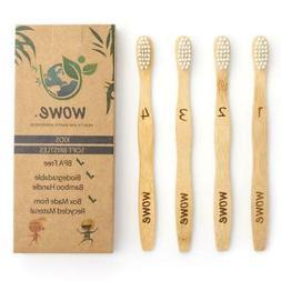Wowe Kids Natural Bamboo Toothbrush Individually Numbered BP