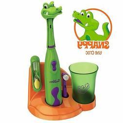 Kids Toothbrush Set Electronic Toddler Animal Crocodile Time