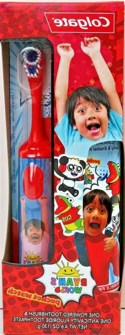 kids toothpaste and battery powered toothbrush set
