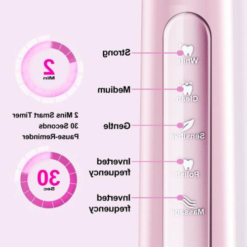 Sonic Toothbrush Electric Toothbrush 3 Modes IPX7 Waterproof