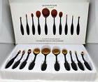10Pcs Professional Makeup Brushes Set Oval Cream Puf Toothbr