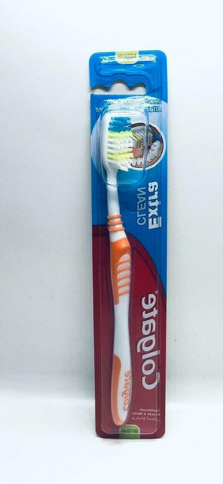 12 Pcs Colgate Extra Clean Toothbrush Medium  Full Head Lot!