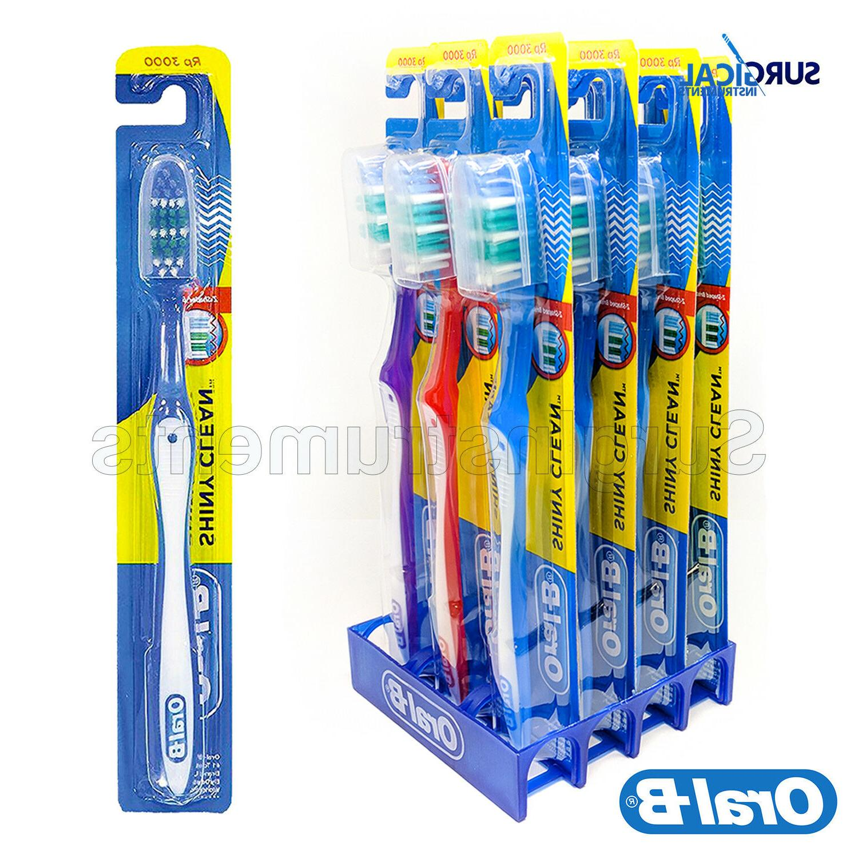 12 Pack Oral-B Shiny Clean Soft 35 Ergonomic Z Shaped Bristl