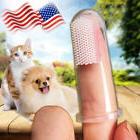 15x Soft Finger Toothbrush Pet Dog Oral Dental Cleaning Teet