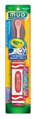 GUM TOOTHBRUSH CRAYOLA POWER WITH STICKERS
