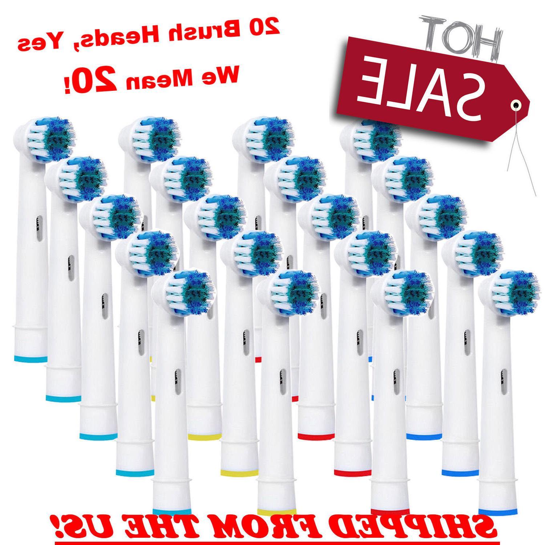 20 Pcs Braun Oral B Electric Toothbrush Head Replacement Bru