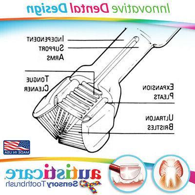 Autisticare 3-SIDED Toothbrush :: SPECIAL Spectrum Autistic CHILD