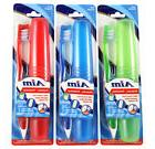 3 Pack Aim Toothbrushes, Soft Bristles With Travel Case Prot