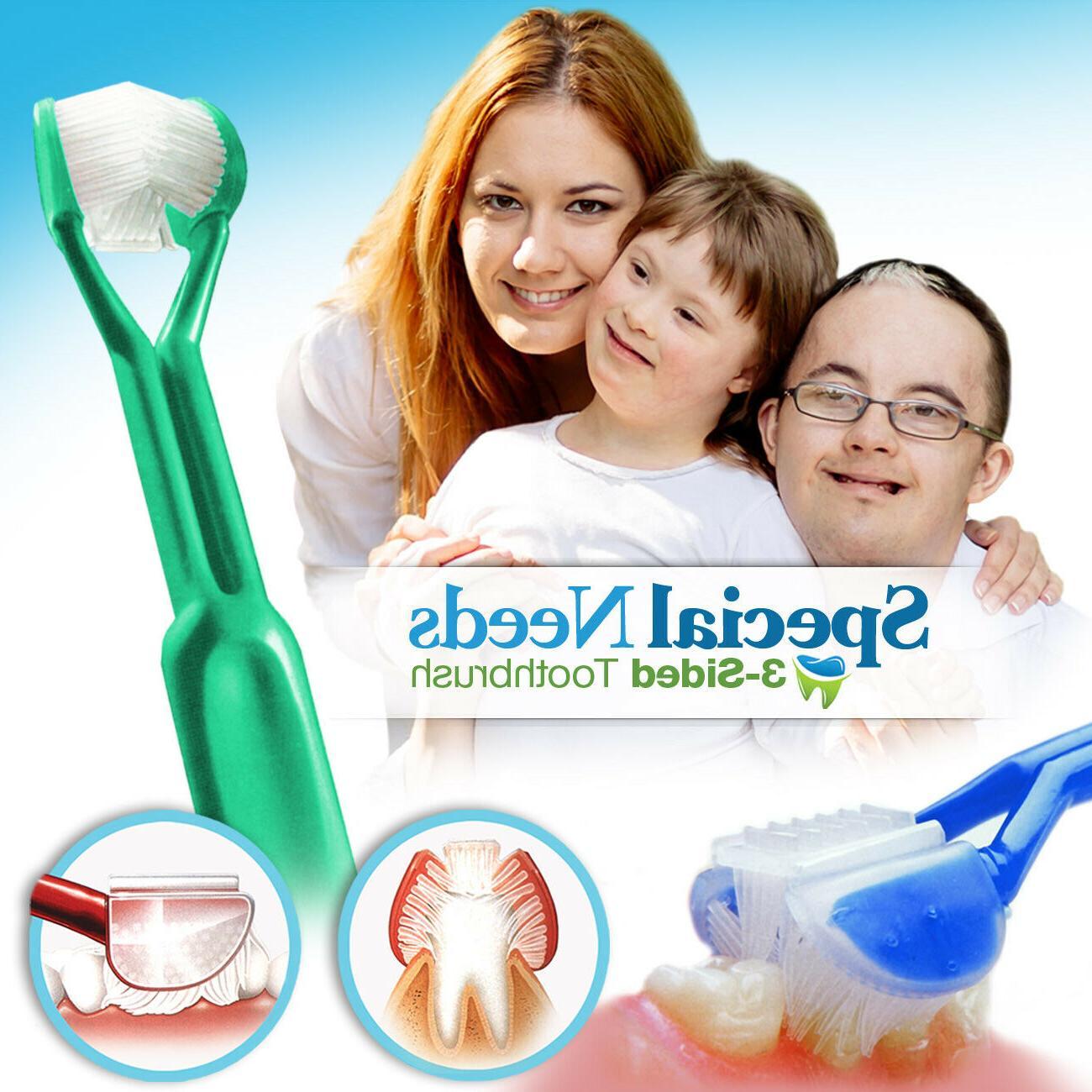 DenTrust 3-Sided Toothbrush :: Caregiver / Assisted Brushing