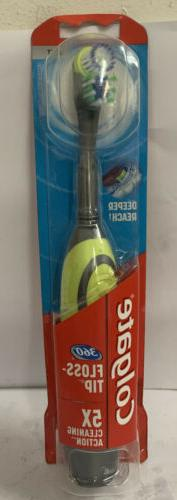 Colgate Total 360 Advanced Floss-Tip Battery Toothbrush, Sof