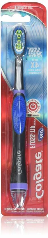 Colgate 360 Floss Tip Sonic Power Toothbrush Tongue Cleaner