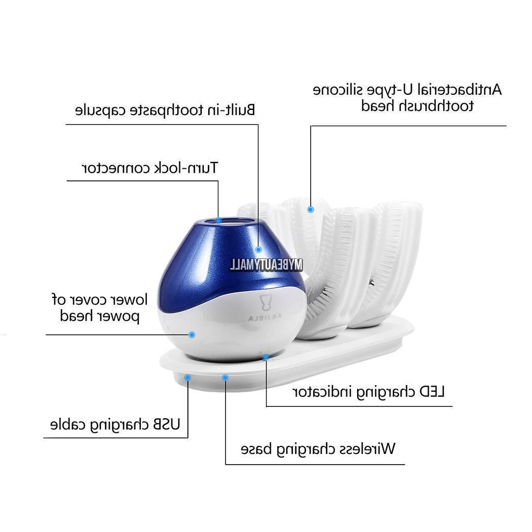 360°Automatic Toothbrush Blue