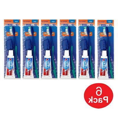 Dr Fresh 4-in-1 Dental Travel Kit Toothbrush, Crest Toothpas