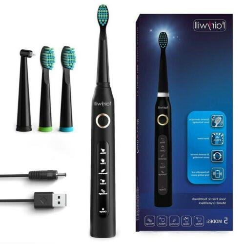5 modes rechargeable sonic electric toothbrush timer