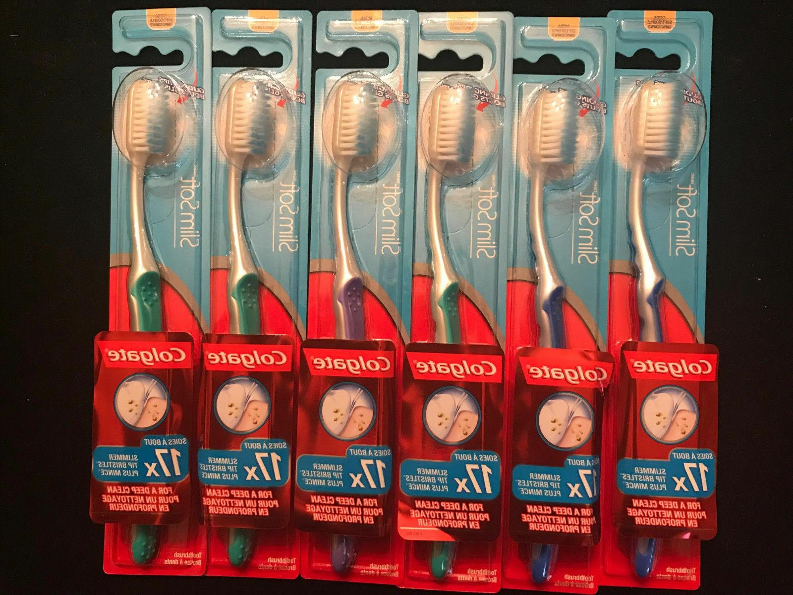 6 pack slim soft extra soft toothbrush