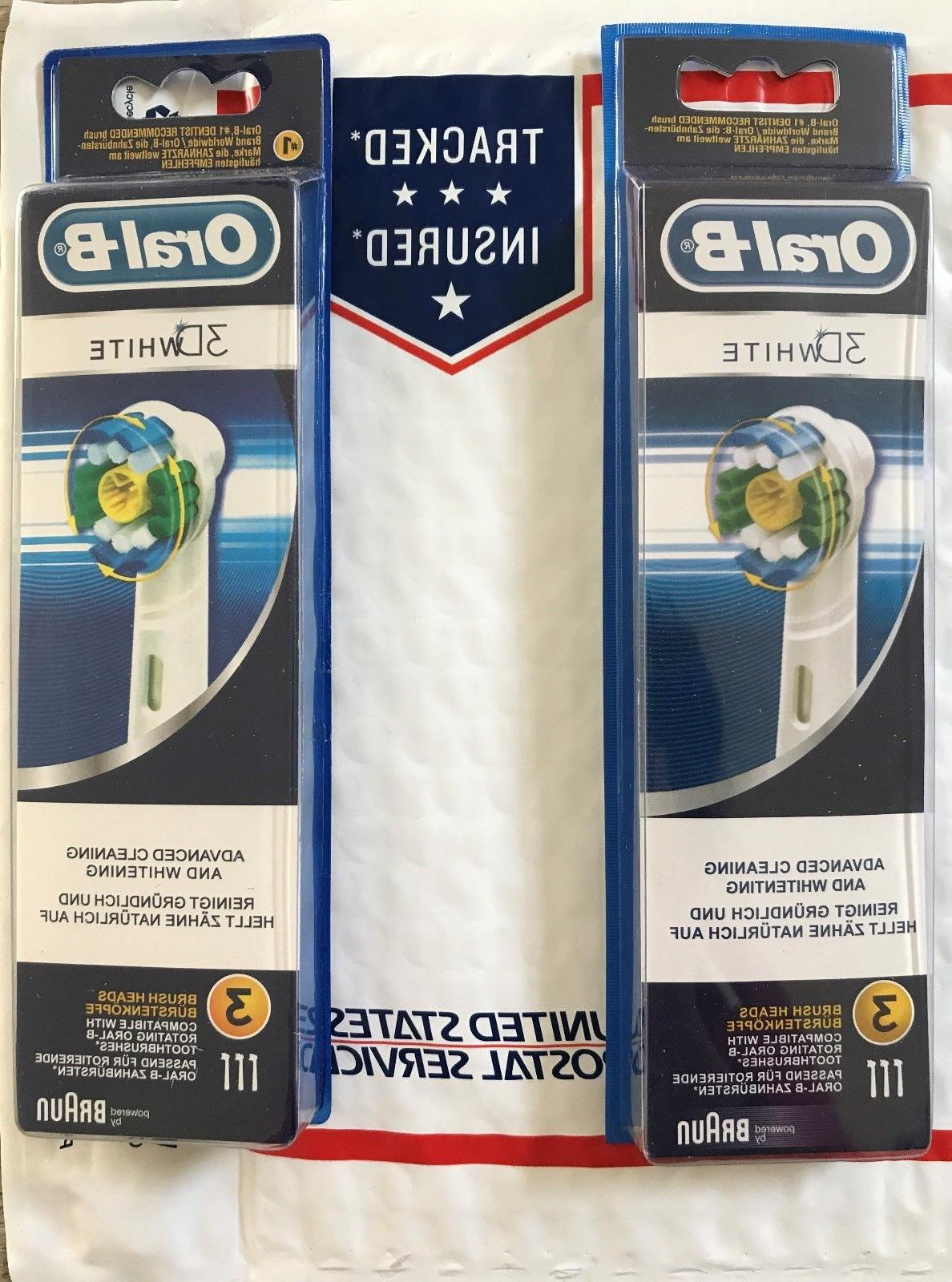 6 pcs oral b 3d white toothbrush