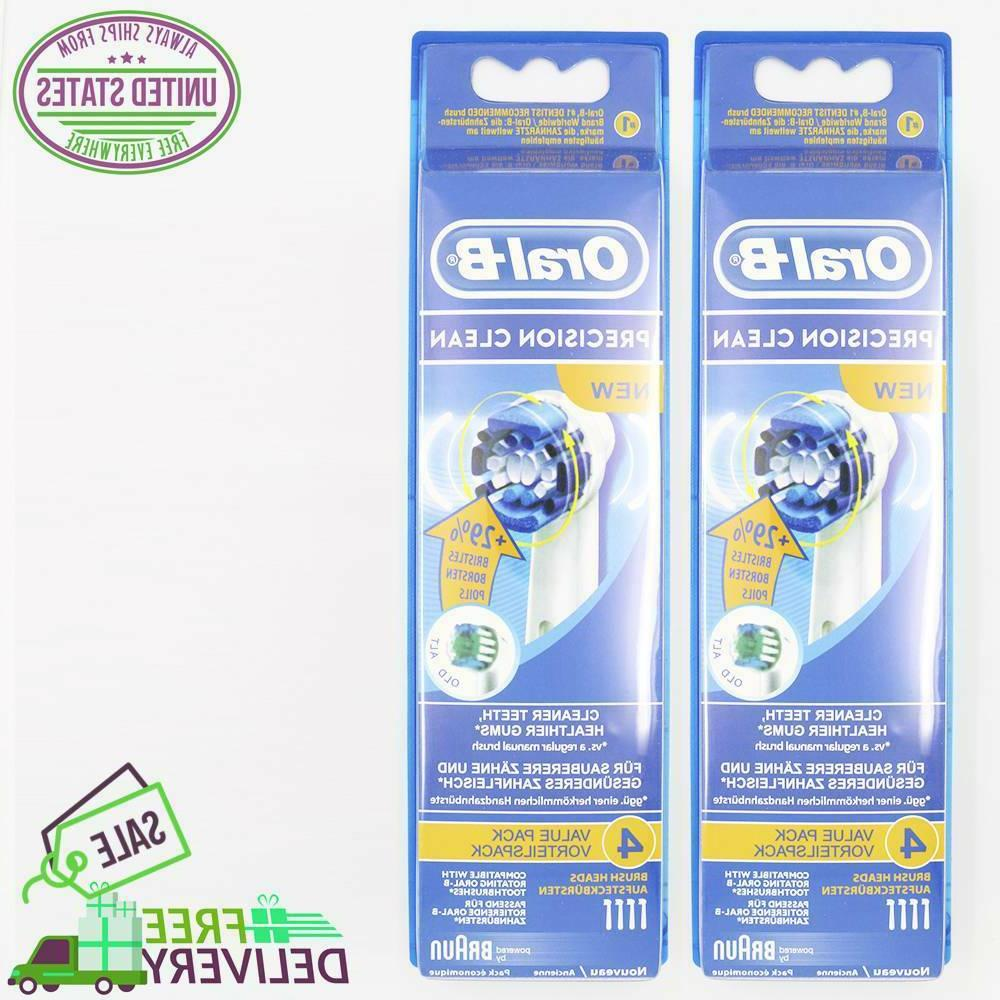 8 braun oral b precision clean toothbrush