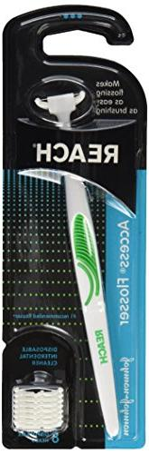 Reach, Access Flosser Starter Pack 8 Disposable Snap-on Head