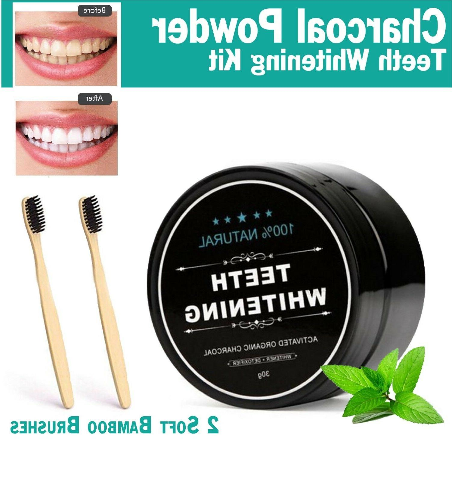 Activated Coconut Charcoal Teeth Whitening Powder Bamboo Too