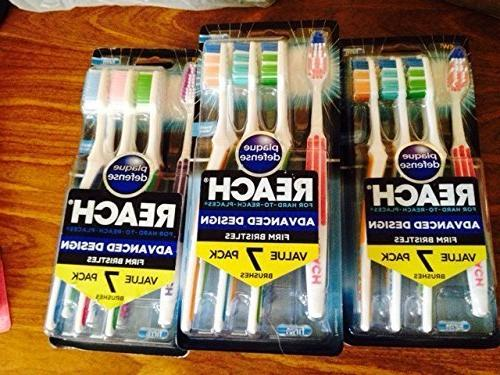 Reach Design Toothbrushes, Firm,
