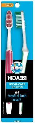 REACH Advanced Design Toothbrushes Firm Full Head Color May